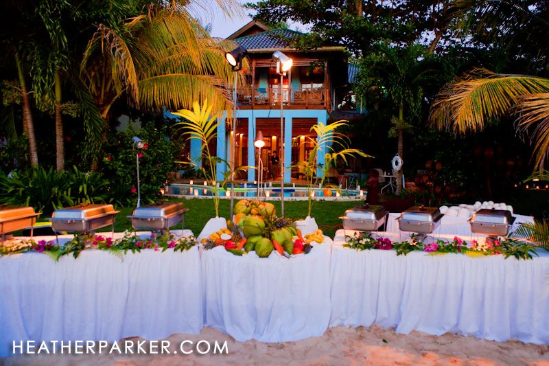 Jamaican Themed Wedding Reception