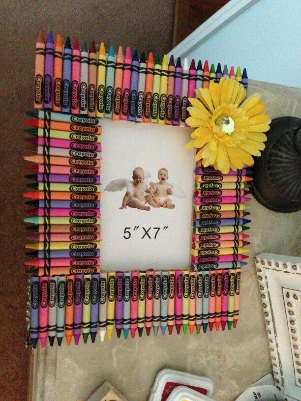 Crayon Frame Diy Crafts Pinterest Crafts Picture Frames And