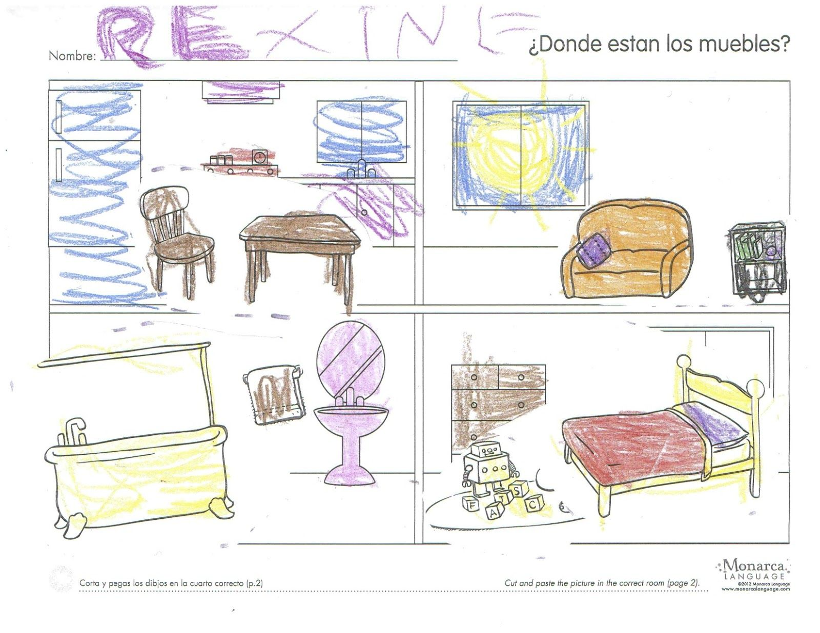 Teaching The Parts Of The House In Spanish Spanishsimplycom