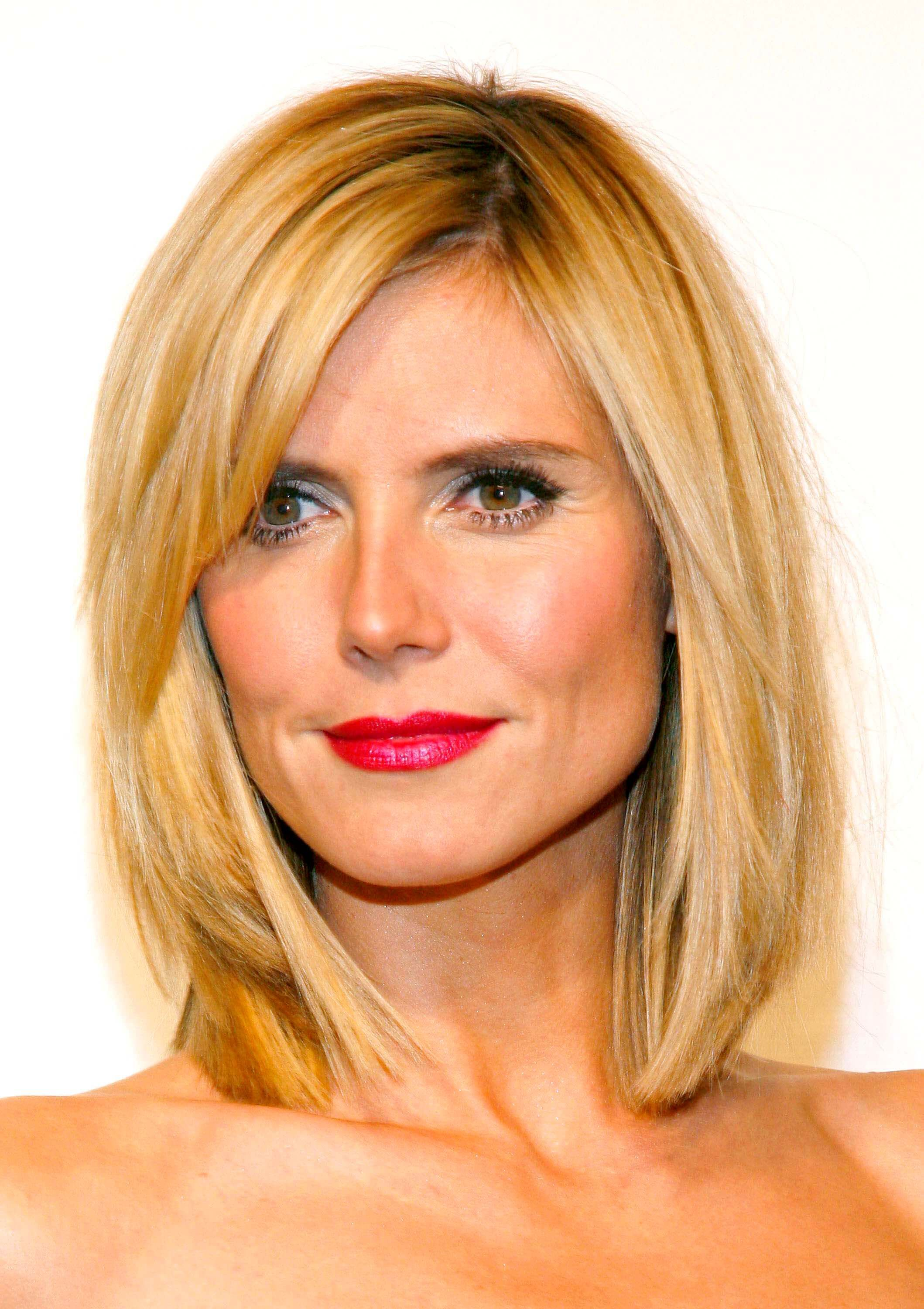 layered bob hairstyle for square faces heidi klum | hairstyles to