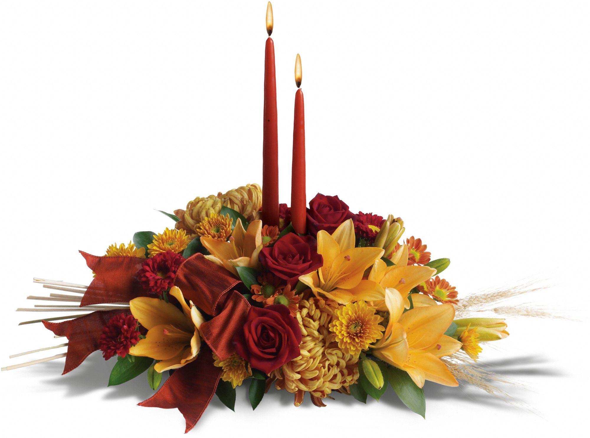 Graceful glow centerpiece thanksgiving decor pinterest