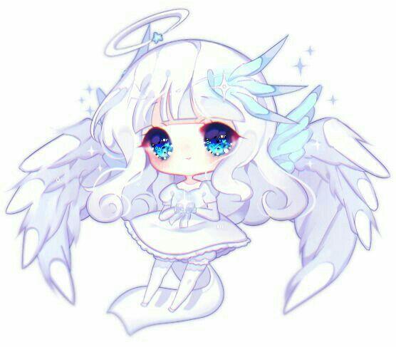 White Angel Chibi Anime Kawaii Cute Anime Chibi Chibi Girl Drawings