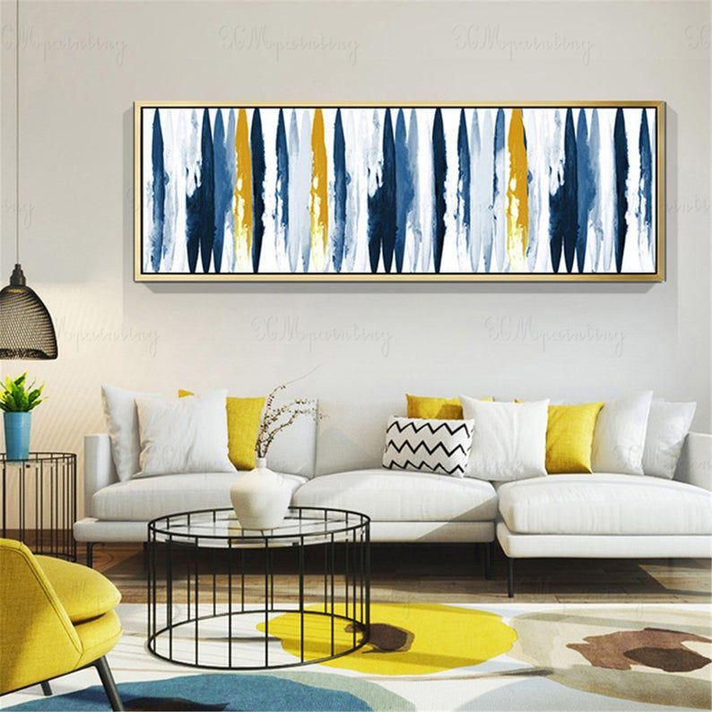 Abstract art painting on canvas gold art wall art