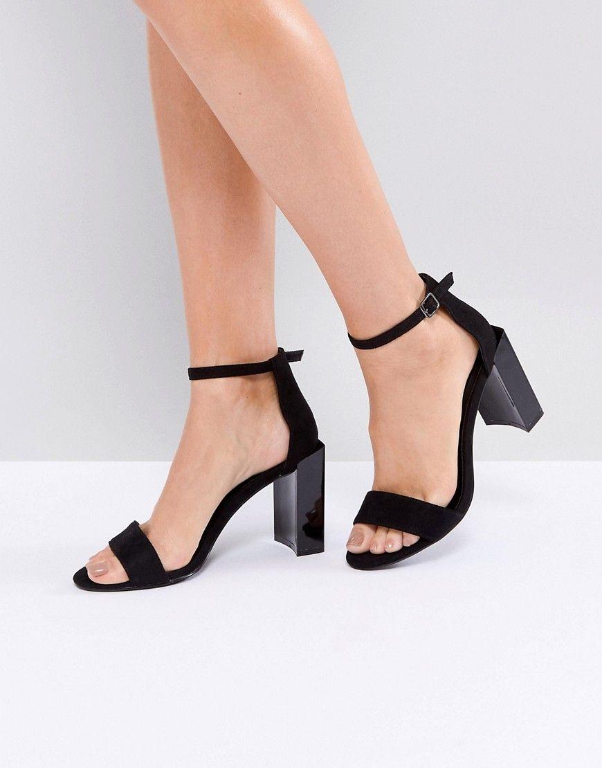 b2ea012d33d Public Desire Kitty Block Heeled Sandals - Black
