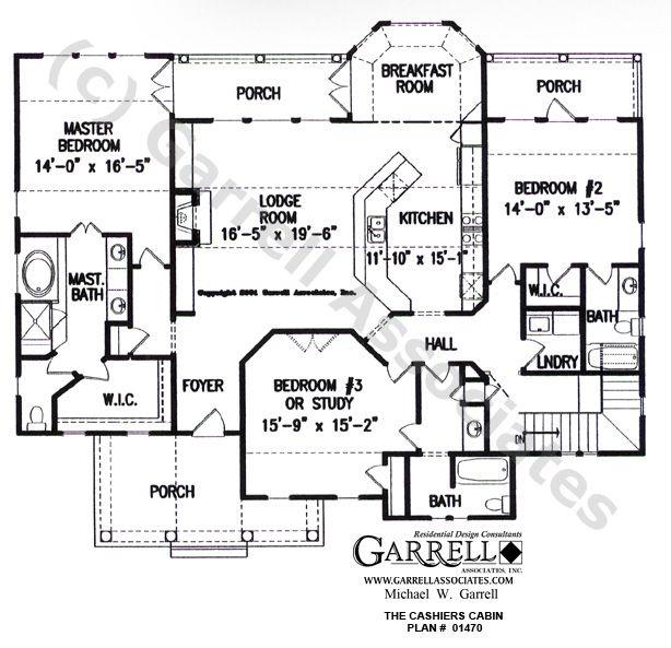 Cashiers Cabin House Plan 01470 1st Floor Plan Cabin House Plans Cottage Floor Plans House Plans