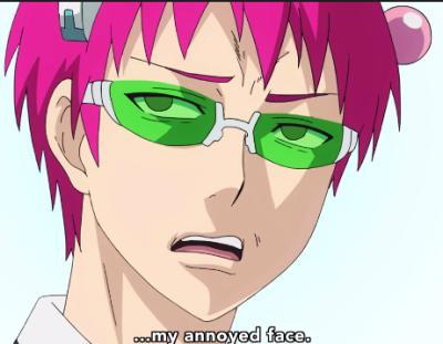 Saiki Kusuo S Annoyed Face Anime Faces Expressions Anime Anime Expressions