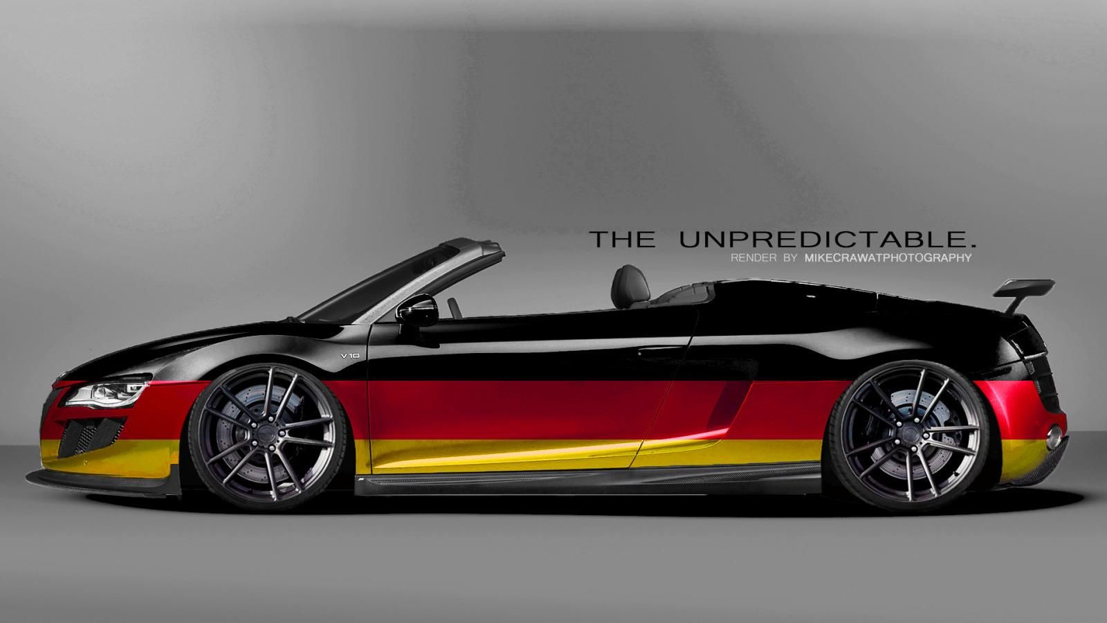 German Flag Audi R8 I Totally Need This Audi R8 Spyder Audi Dream Cars