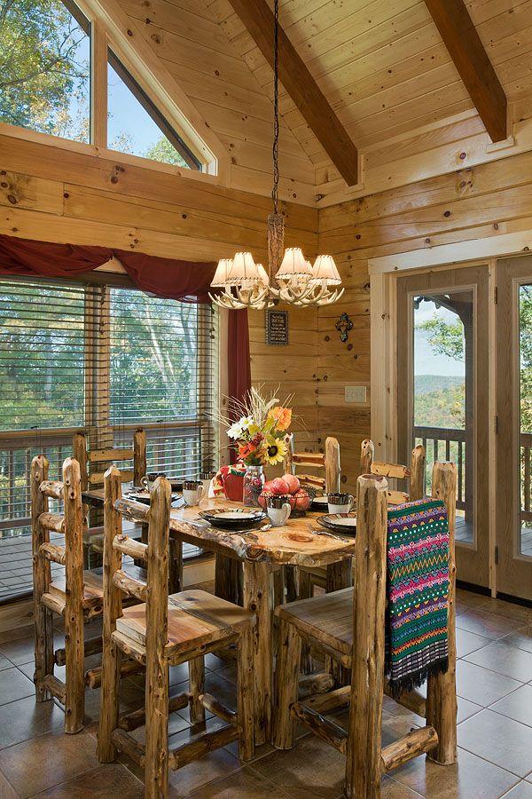 Interior, Vertical, Dining Room, Chalk Residence, Spencer, Tennessee;  Honest Abe