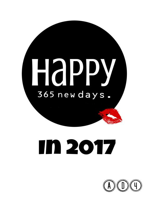 happy 365 new day minimalist new year card e card black