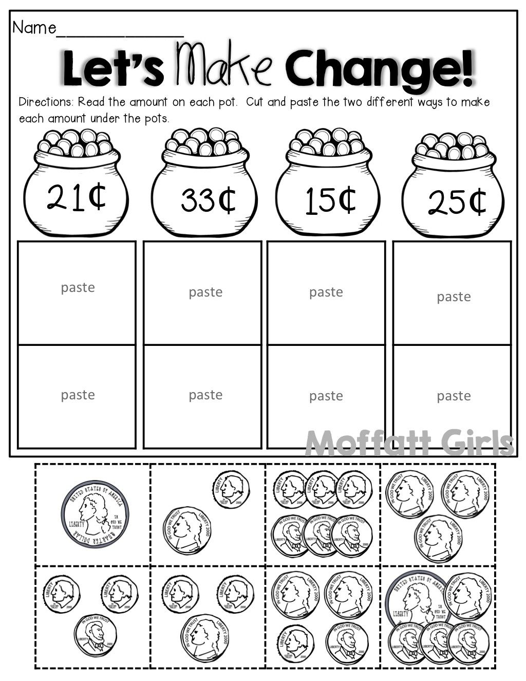 4 Worksheet Free Math Worksheets Second Grade 2 Counting Money Counting  Money Canadian Nickel...   First grade math [ 1325 x 1024 Pixel ]