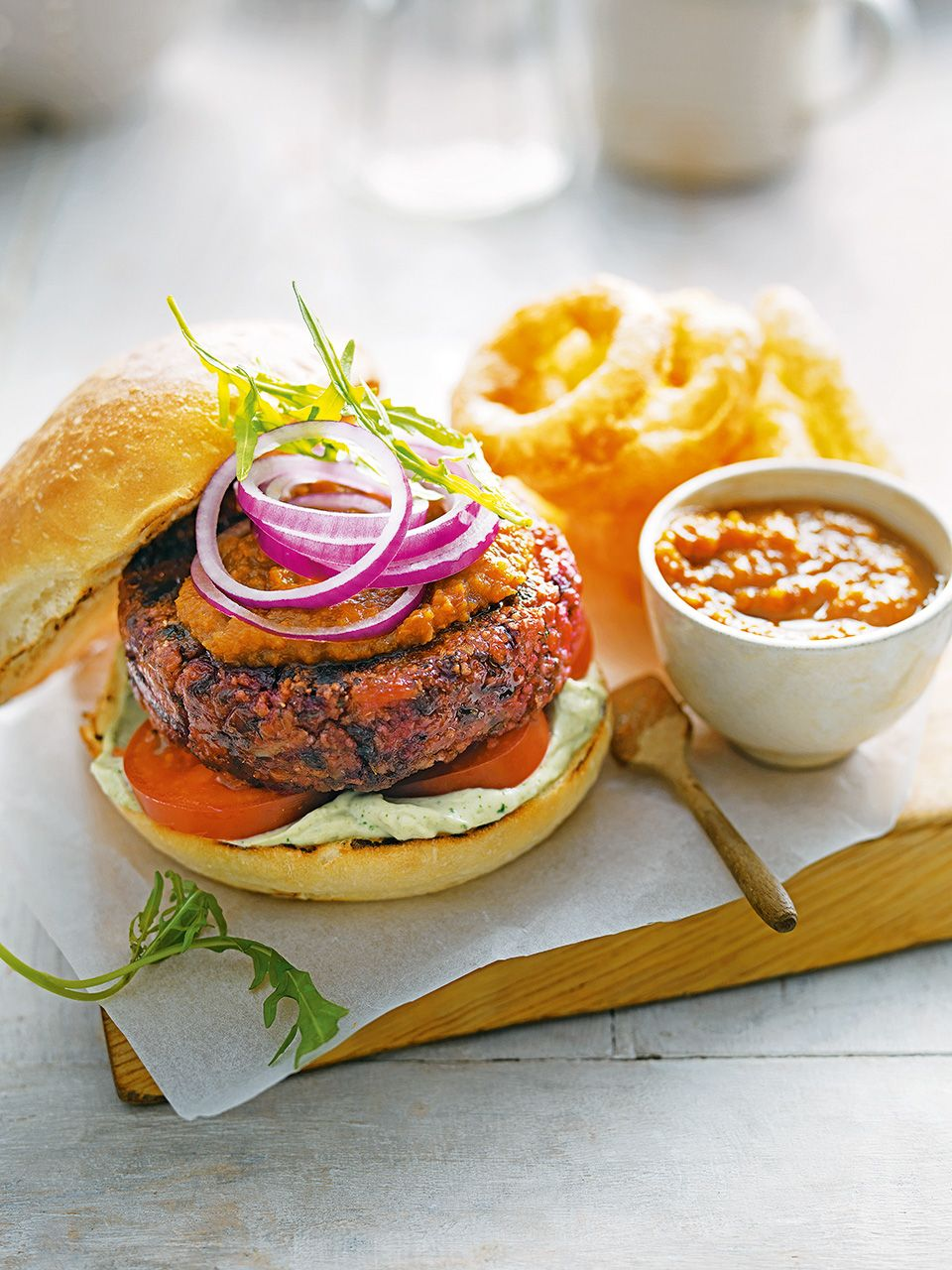Beetroot Fennel Apple And Dill Burgers