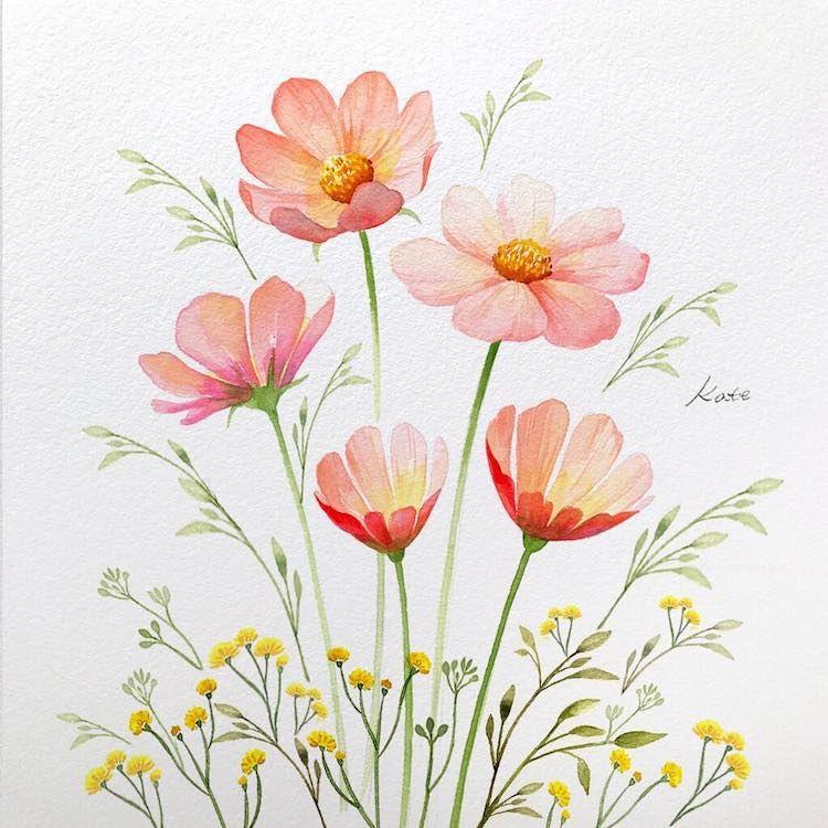 Una ilustradora nos muestra cómo dibujar flores en tres sencillos pasos