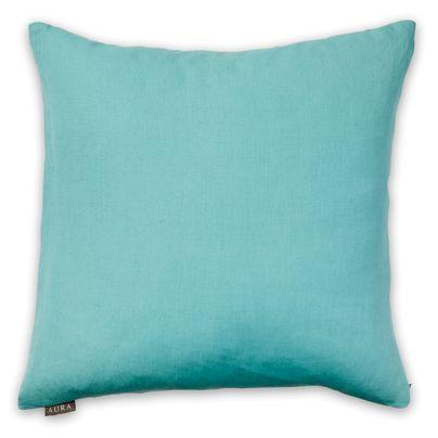 50x50cm Textured Linen cushion Sea Blue