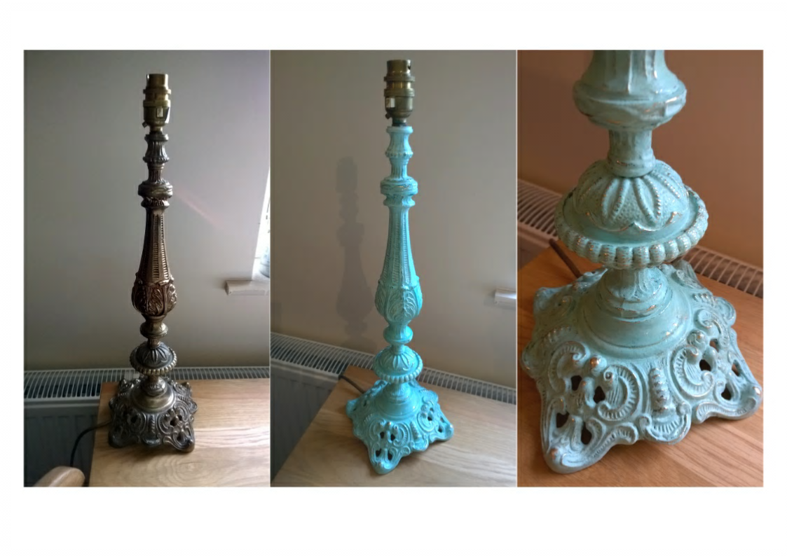 Revamped Vintage Brass Lamp Stand Painted With Annie Sloan Chalk Paint Florence And Pure White With Images Annie Sloan Chalk Paint Florence Chalk Paint Brass Lamp