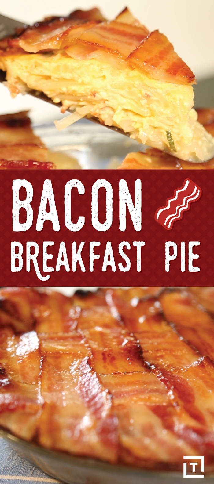 Breakfast Pie Is the Best Way to Start the Day Mix up your breakfast routine with this Bacon Breakfast Pie.Mix up your breakfast routine with this Bacon Breakfast Pie.