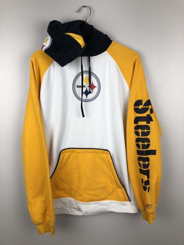 pretty nice 3d99b 875b4 NFL Pittsburgh Steelers Hoodie Size M   80s 90s vintage ...