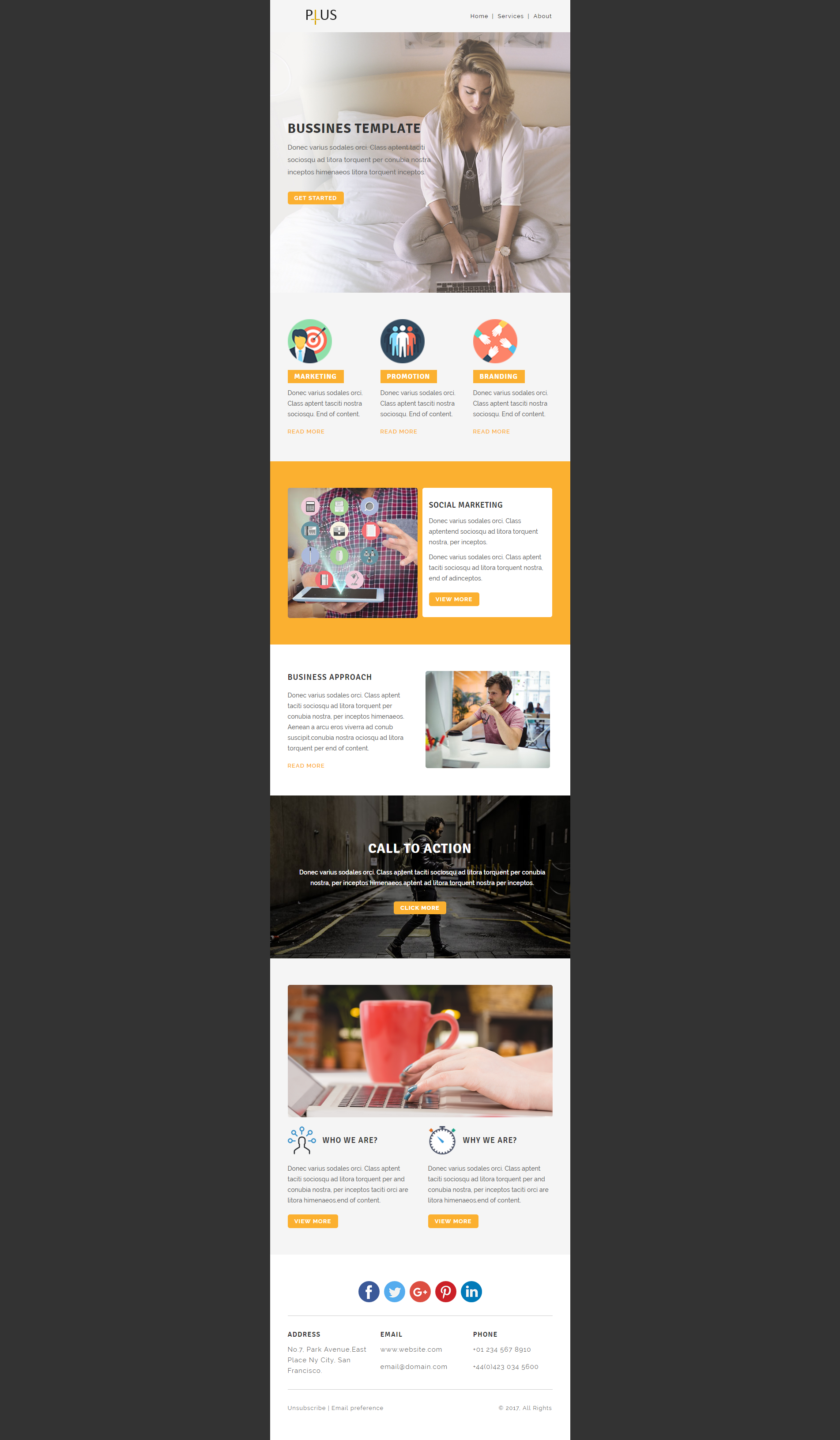 Wonderful Html Email Responsive Template Ideas - Professional ...