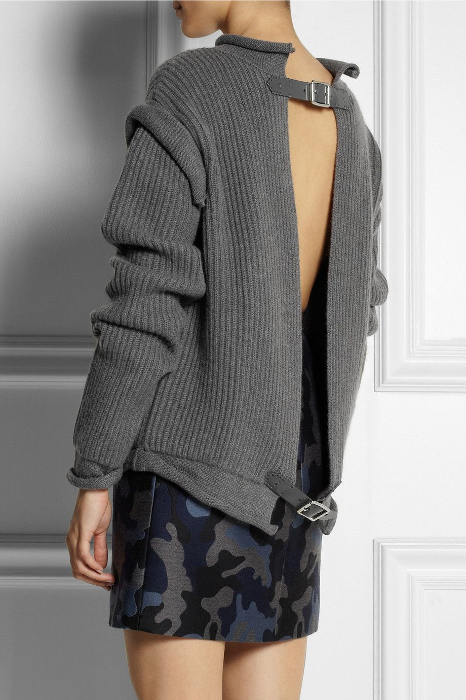 Christopher Kane | Oversized cashmere open-back sweater | NET-A ...