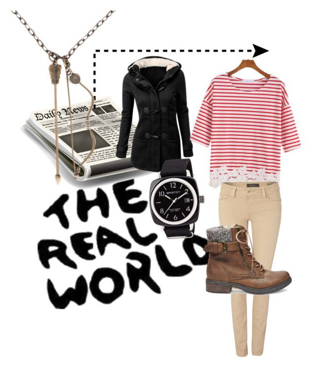 """""""The real world"""" by tianacolm101 ❤ liked on Polyvore featuring George, Salsa, Steve Madden and Briston"""