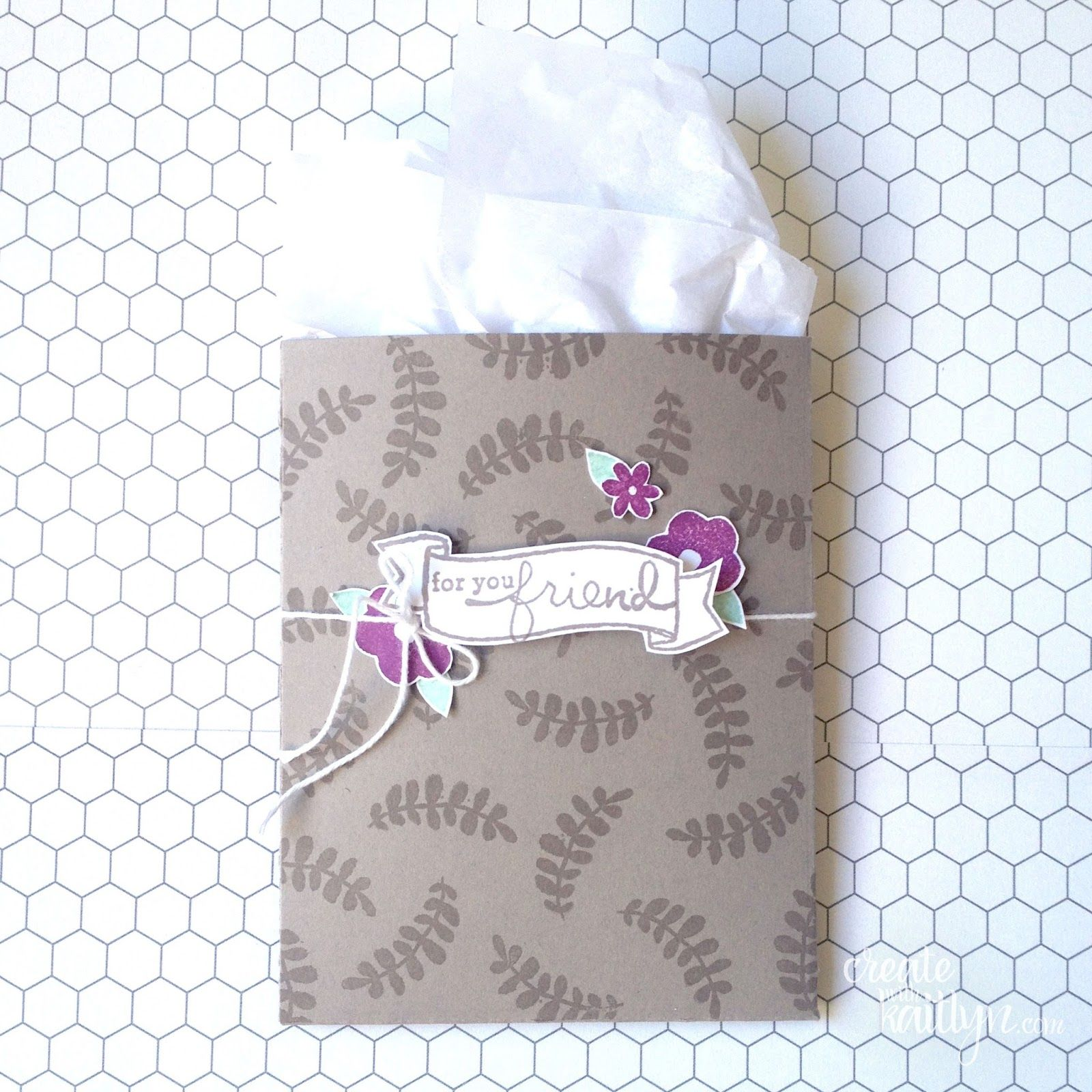 For you friend monday montage gift card holder paper