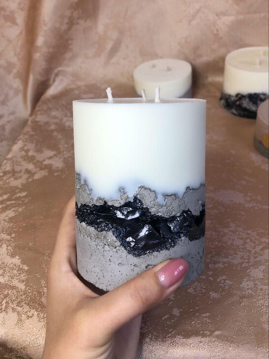 свеча из бетона