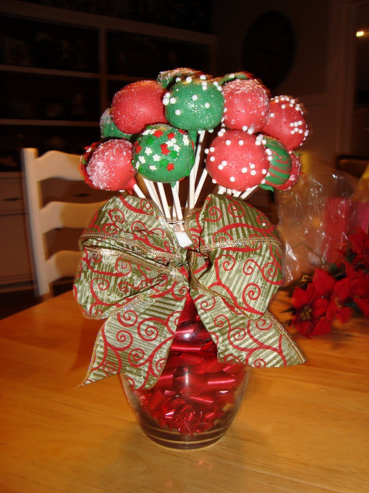 Ryan and Whitney Jackson Cake Pops & My mother in law my mom and I made these arrangements for their ...