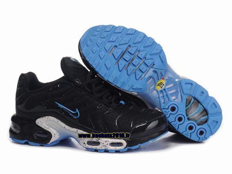 pretty nice 6298f 7baae Nike Air Max Tn Requin Tuned 1 Chaussures Baskets2016 Pas Cher Pour Femme  Noir - Blanc - Bleu