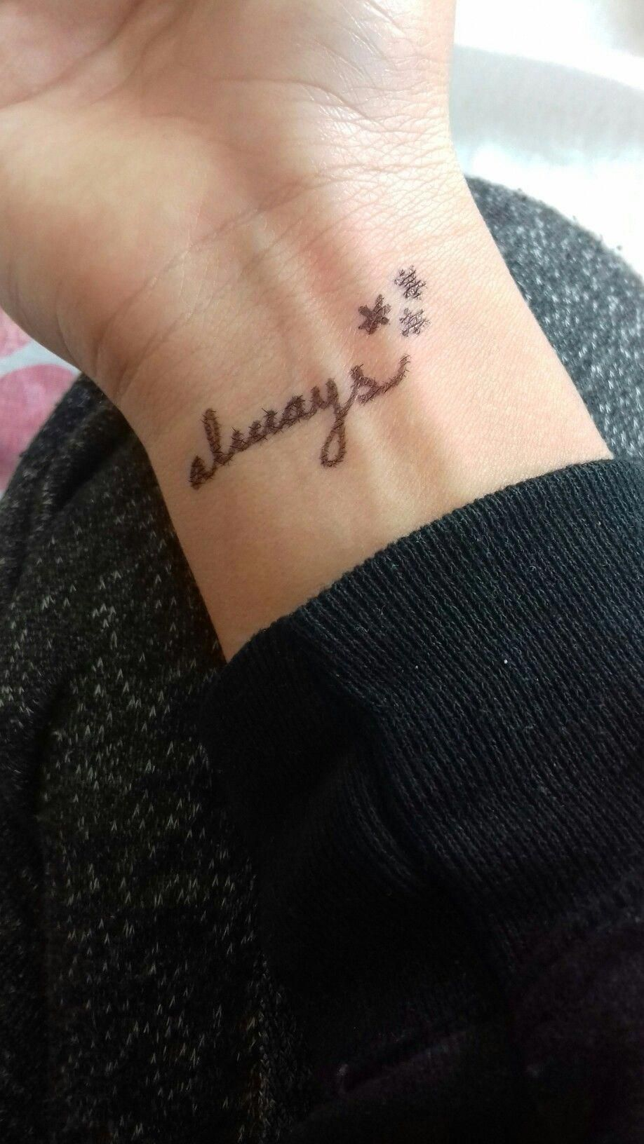 Always Design Harry Potter Harrypottertattoosalways Harry Potter Tattoos Always Harry Potter Tattoo Harry Potter Tattoo Small