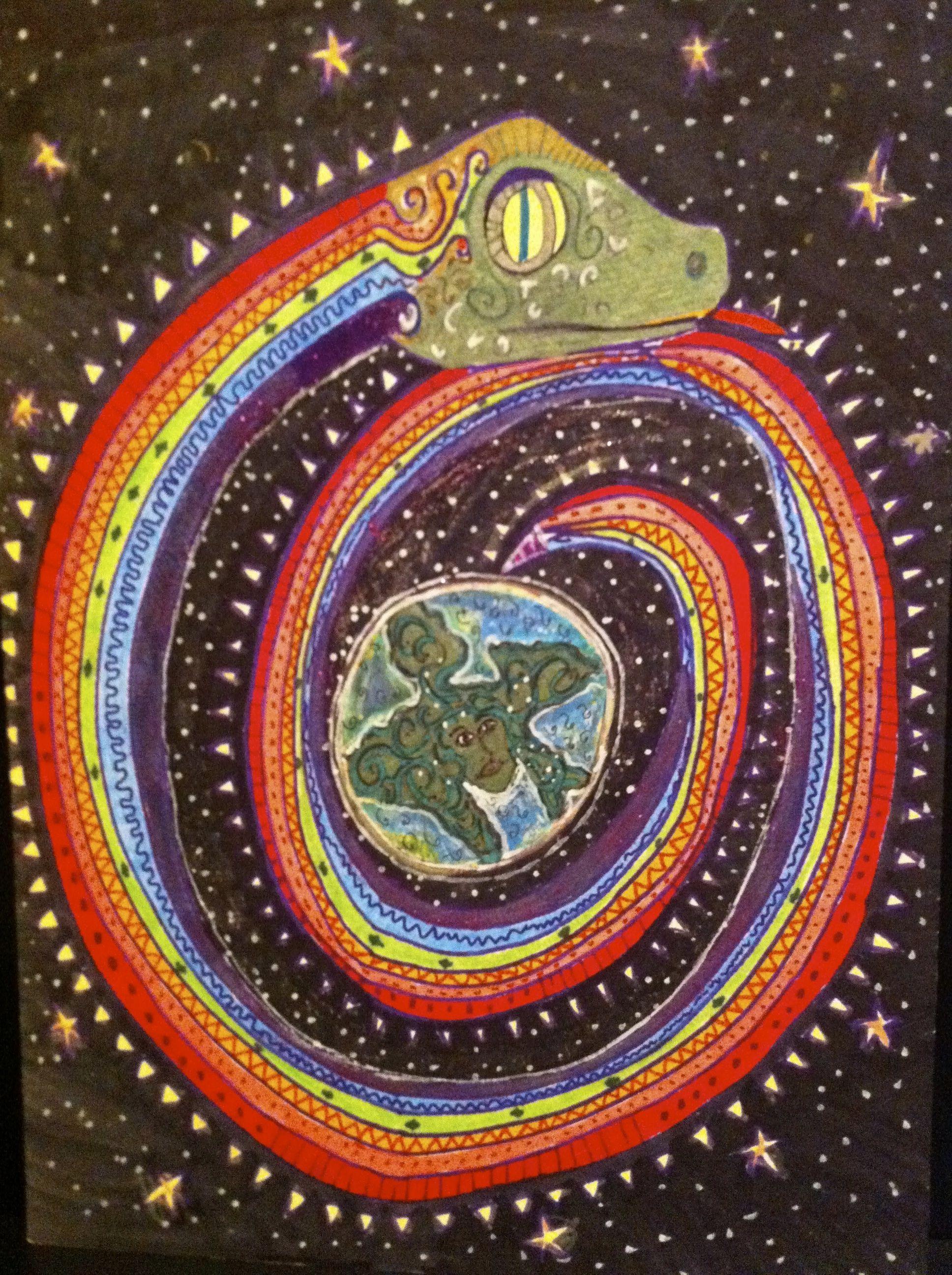 Sharpie Art Rainbow Serpent With Images Rainbow Serpent