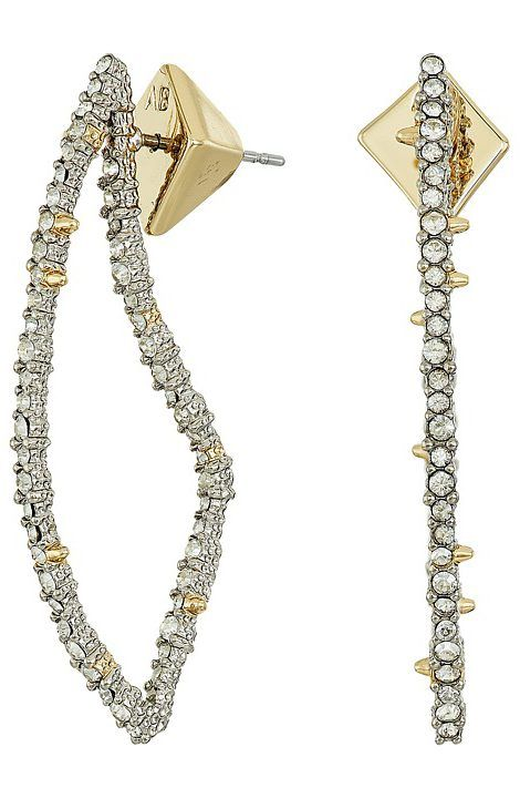Alexis Bittar Encrusted Abstract Thorn Post Earring QRlBnfWFt