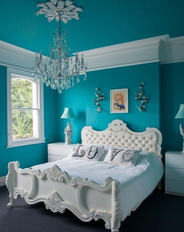 Epingle Sur Chambre A Coucher Turquoise