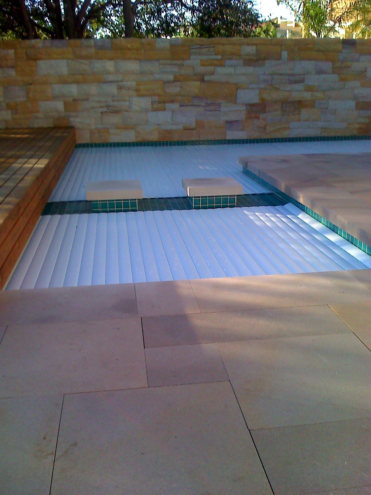 Automatic pool safety security cover pool cover pool