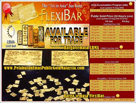 Kepingan Emas Flexi Bar Public Gold Pertama Di Asia Gold Bar Flexi