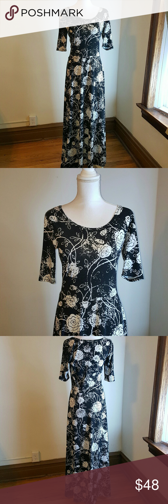 Karin Stevens Black Dress With White Flowers Dresses Clothes Design Womens Dresses [ 1740 x 580 Pixel ]