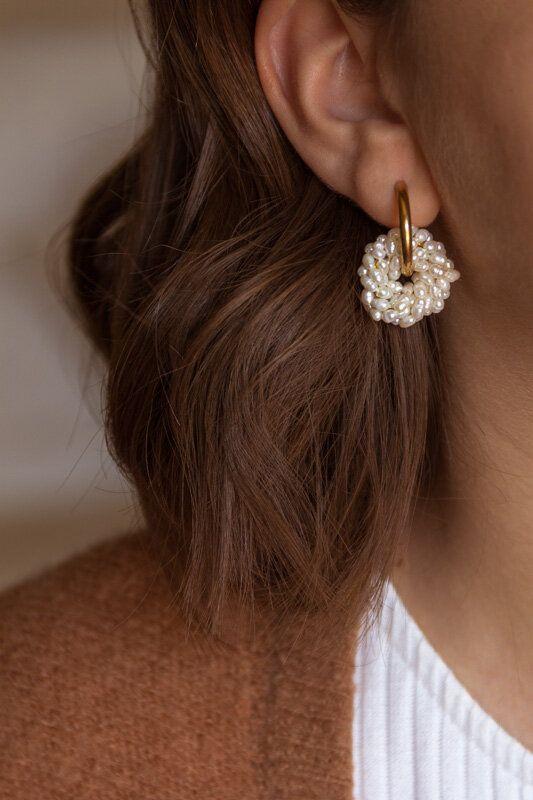 Photo of Carmen Perlenohrringe –  Carmen Perlenohrringe. Diese Ohrringe sind handgefertig…