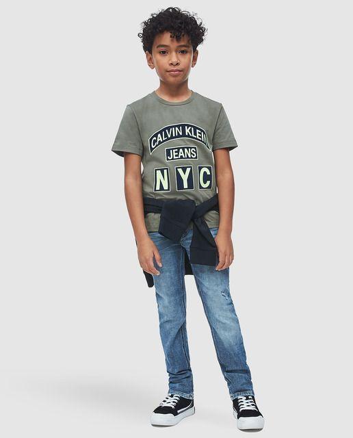 Photo of Calvin Klein – Calvin Klein Boys & # 39; Pantaloni di jeans blu con strappi