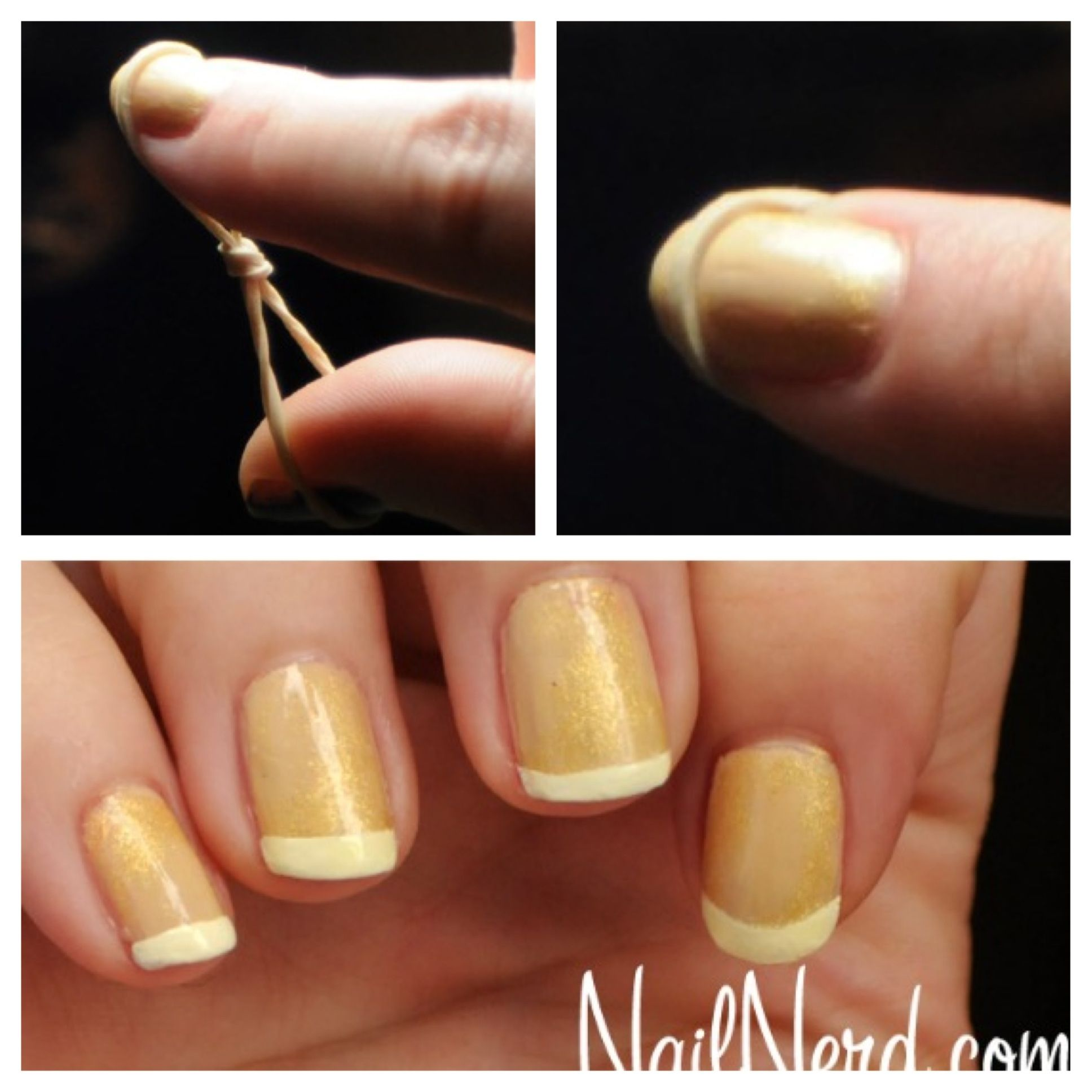 DIY French manicure Trendy nails, Nails, French nails