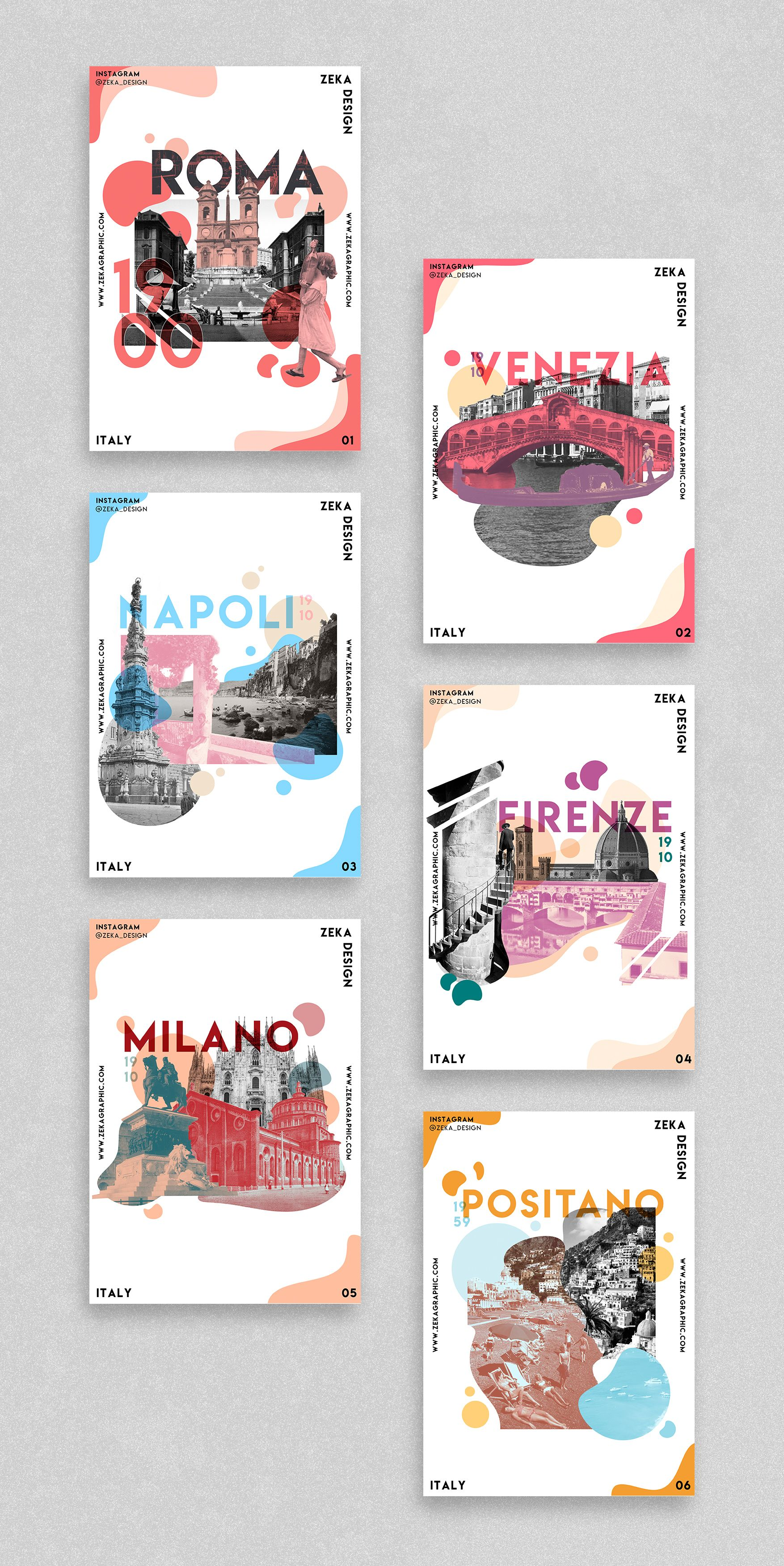 Italy Poster Design Project Graphic Design Inspiration by Zeka Design