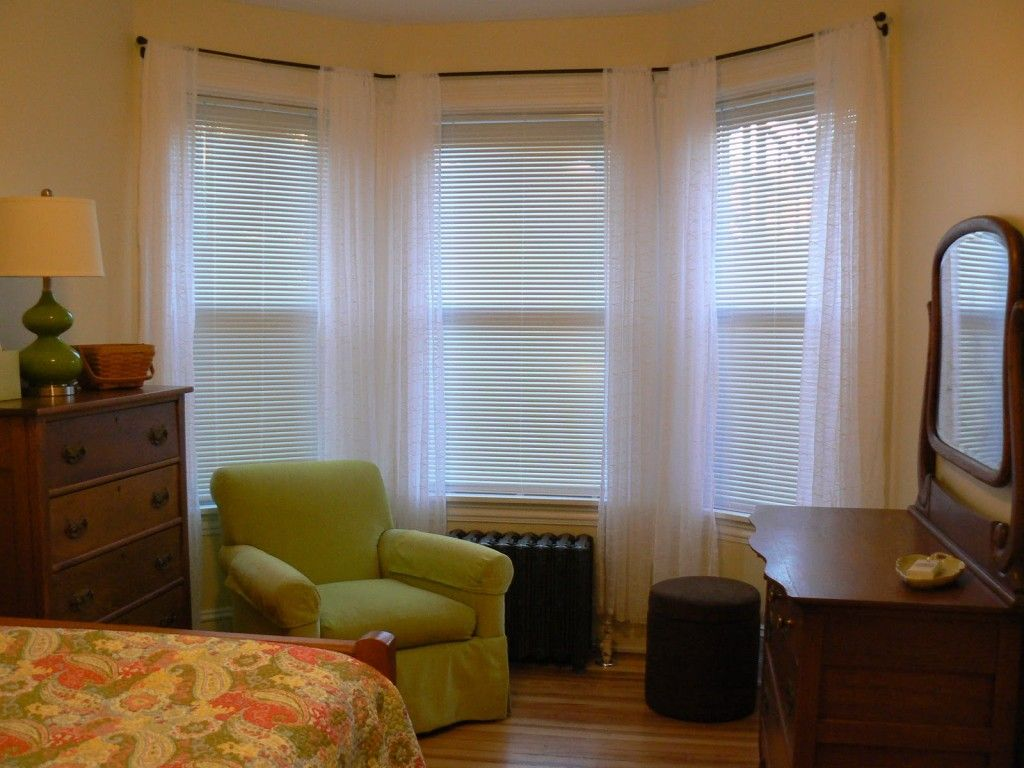 Awesome idea curved curtain rods for bay window awesome
