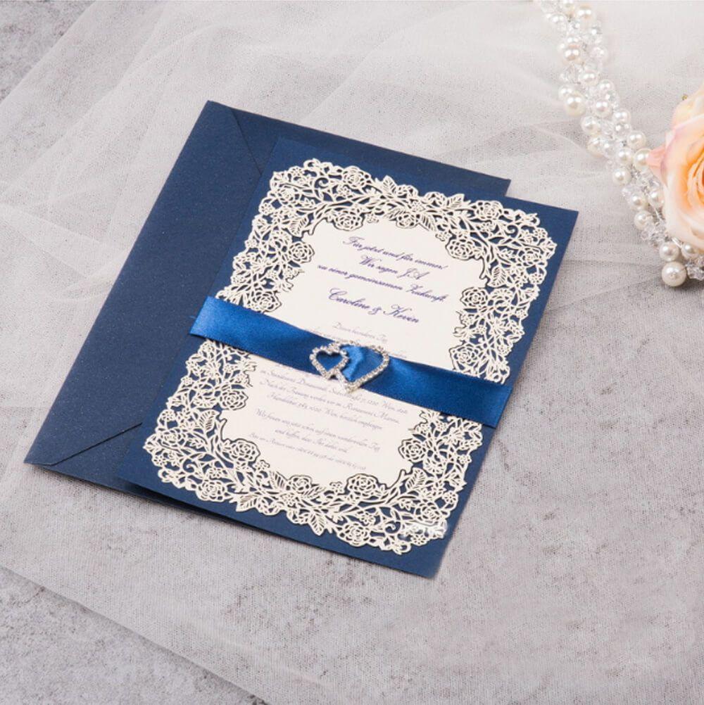 Lavish Bloom Insert Card | Wedding order, Laser cut wedding ...