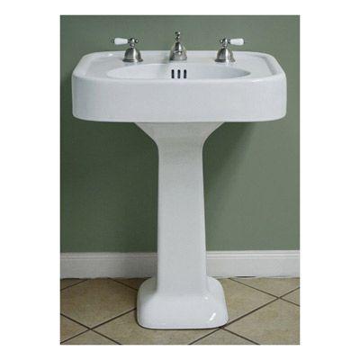 Randolph Morris Pedestal Bathroom Sink 12 Inch Faucet Drillings 25 5 Wide 267 99 Pedestal Sinks Sink Vintage Tub