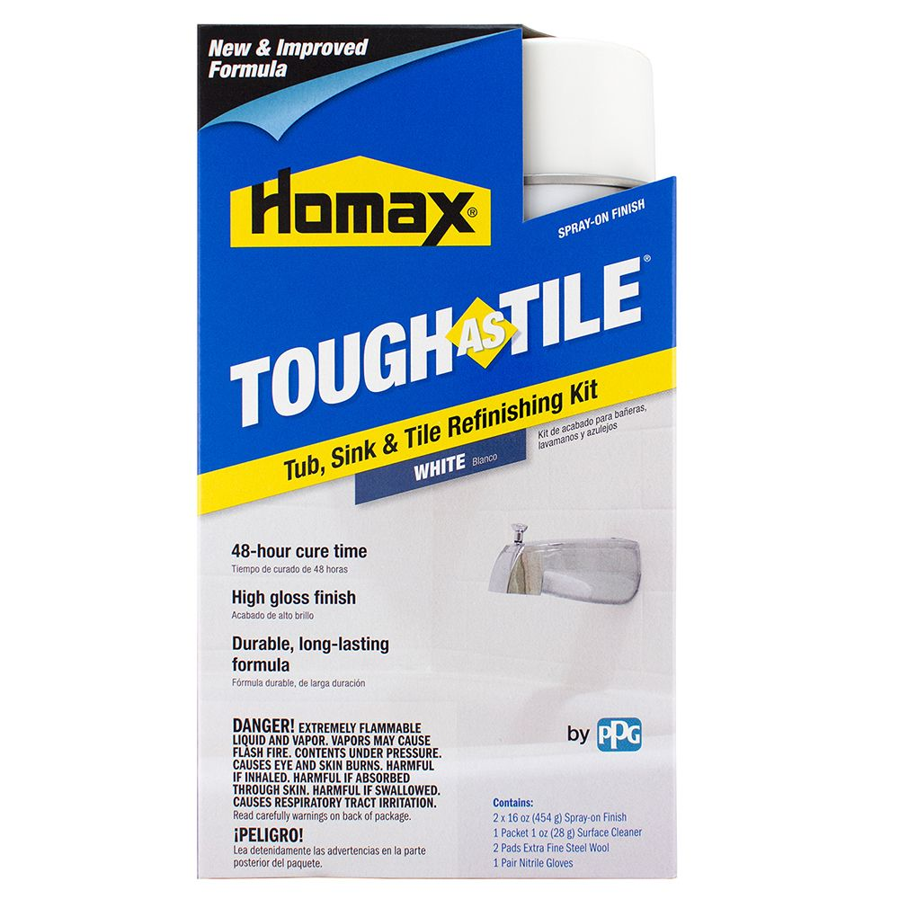 Homax® Tough As Tile® Spray On Tub, Sink & Tile Refinishing Kit ...