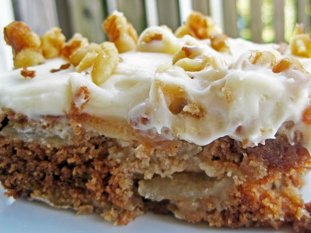 A Hint Of Honey Chunky Apple Cake With Cream Cheese Frosting Sweet Stuff Cakes Cheeses And
