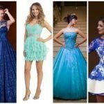 5a314fe5fa Vestido de 15 anos azul  57 modelos incríveis para a festa de debutante!