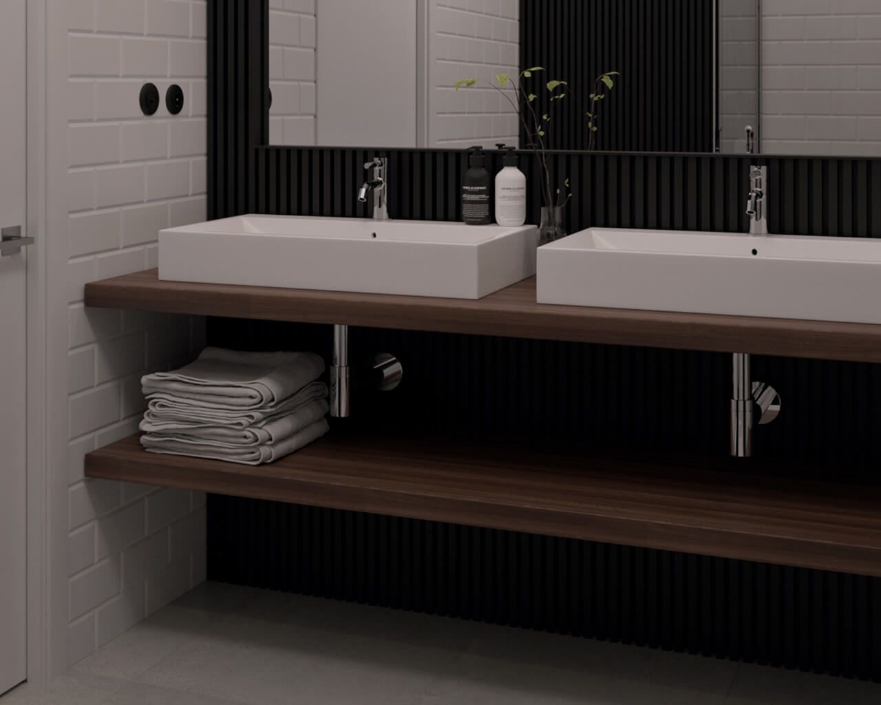 Mała łazienka W Bieli I Czerni Ceramika Paradyż Wnętrze