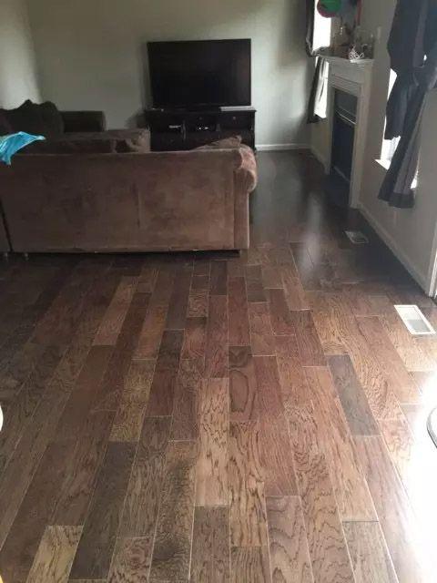 Walnut Hickory Engineered Hardwood In A Virginia Customer S Home Livingroom