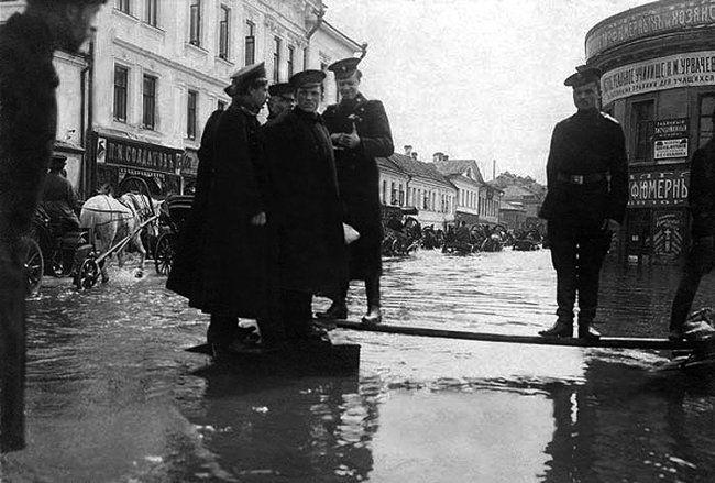 Старая Москва. Наводнение 1908г. Москва советская. фото ...