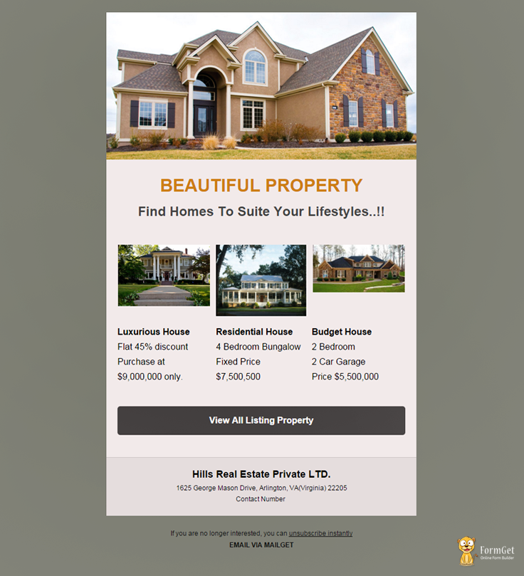 A premium and clean real estate email template designed to showcase ...