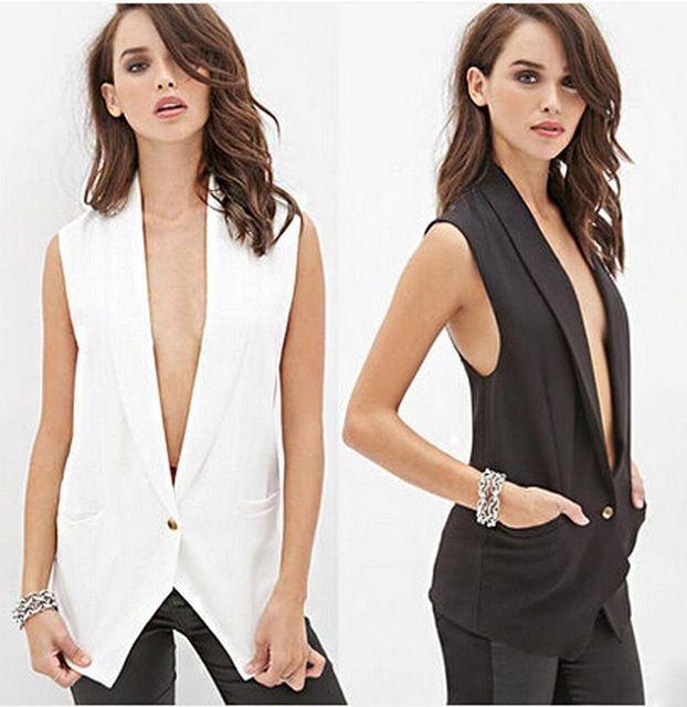 Nueva europa de encaje cardigan mujeres chaleco blanco negro color ...