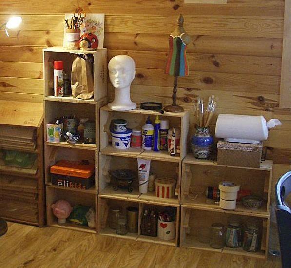 Reciclado c mo hacer muebles con cajones de verduras lo for Diseno de muebles con cajones de verduras